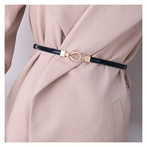 LPZW Cinturón de Cuero Negro 2020 Cinturones Ajustables para Mujeres EasyBelt Shiny Hebilly Luxury (Belt Length : 100cm, Color : Easy Belt 2)