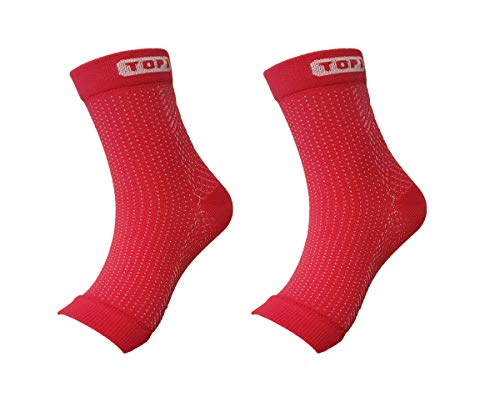 Premium Ankle Support Compression Sleeves Unisex, Foot Socks, Fast Relief from Swelling & Foot Pain, Plantar Fasciitis+A RFID card sleeve (L/XL, Rose)
