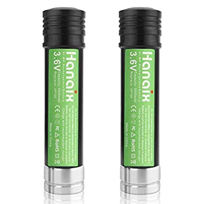 Hanaix 2 Pack 3.6V 3500mAh NI-MH Replacement Batteries for Black and Decker Versapak VP100 VP105 VP105C VP110 VP110C VP130 VP143 VP142 VP7240