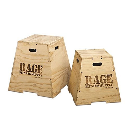 Rage Fitness Wooden Plyometric Jump Signature Puzzle Design Box