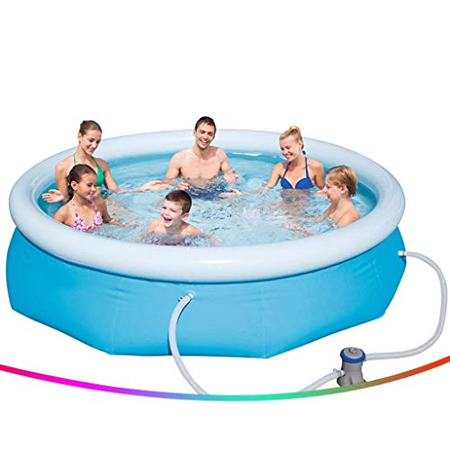 Swimming Pools Inflatable Pools Large Household Three-layer Thickened Swimming Pool Children Adult Outdoor Paddling Pool No Installation Required With Filter Pump (Color : Blue, Size : 10ft) ZHNGHENG