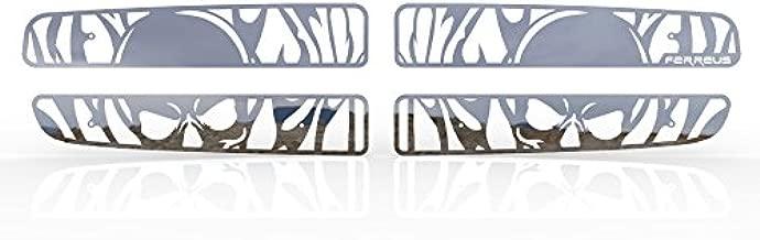Ferreus Industries Grille Insert Guard Skull Flame Polished Stainless fits: 1997-2004 Dodge Dakota TRK-112-10-Chrome-a