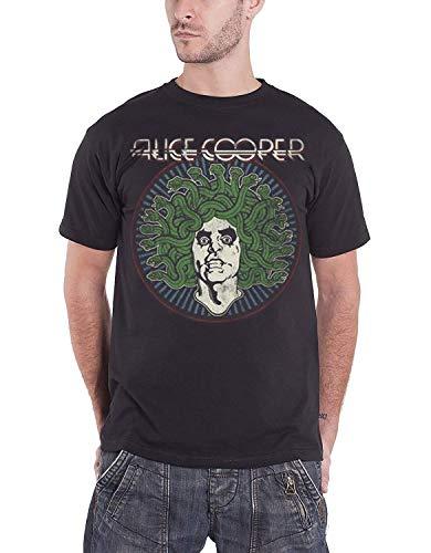 Alice Cooper Herren T-Shirt Medusa Vintage, Gr. Small, Schwarz