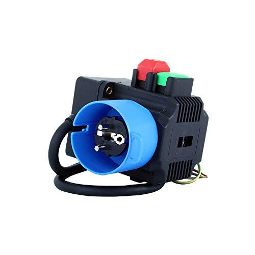 TRIPUS Schalter-Stecker-Kombination 230 V - Ein-Aus-Taste - 0.65 m Kabel - Phasenwender/Sicherheitsschalter - Nullspannungsschalter - Motorstarter - Geräteschalter - Schalter - Kreissäge
