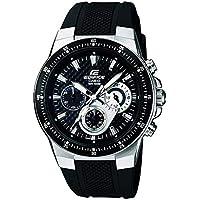 Casio  EF-552-1AVEF EDIFICE - Reloj en caja sólida de acero inoxidable, 10 BAR, para Hombre, con Correa de Acero macizo, Negro