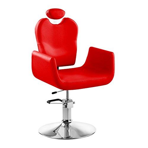 Physa - LIVORNO RED - Sillón de peluquería rojo - Altura del asiento regulable entre 45 y 55 cm