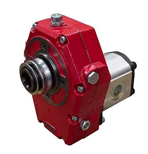 Caja de cambios hidráulica de hierro fundido PTO y conjunto de bomba grupo 3, 43 cc, 81,27 L/min, 32,24 kW