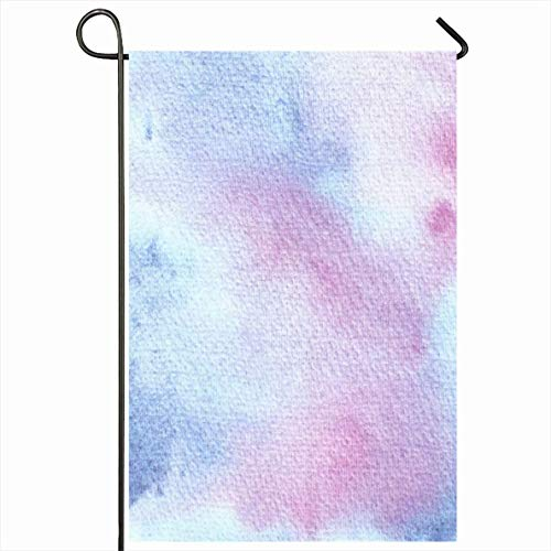 PQU Awesome Seasonal Garden Flag,Design Gebürstetes Sauberes Element Handgemalte Aquarell Tinte Strukturierte Abstrakte Textur Papier Texturen Vertikale Polyester Gartenflaggen,32x45.7cm