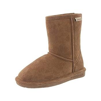 Bearpaw Emma Youth - Short Sheepskin Boots - 608y Hickory - 5 M Us Big Kid