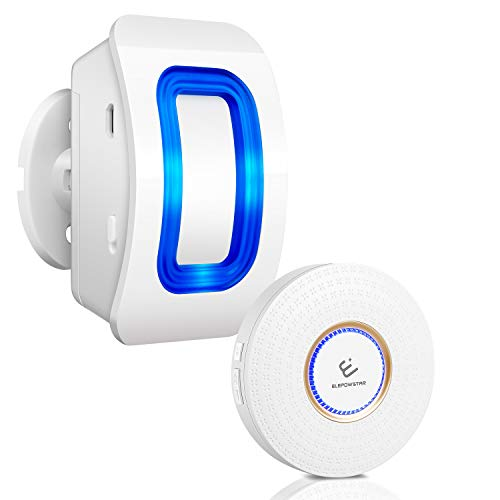 Read About Wireless Motion Sensor Alarm, ELEPOWSTAR Motion Sensor Detect Alert, Motion Detection Doo...