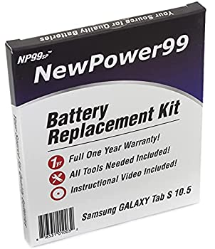Battery Kit with Tools Video and Battery for Samsung Galaxy Tab S 10.5 SM-T800 SM-T801 SM-T805 SM-T807 by NewPower99