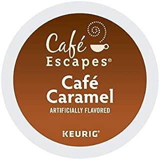 Cafe Escapes, Cafe Caramel Coffee Beverage, Single-Serve Keurig K-Cup Pods, 72 Count (3 Boxes of 24 Pods)