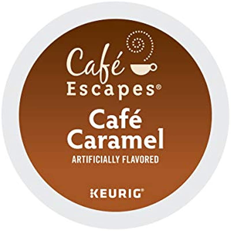 Cafe Escapes Cafe Caramel Coffee Beverage Single Serve Keurig K Cup Pods 72 Count 3 Boxes Of 24 Pods