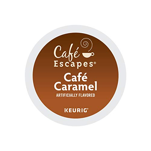 Cafe Escapes, Cafe Caramel Coffee Beverage, Single-Serve Keurig K-Cup Pods, 96 Count (4 Boxes of 24 Pods)