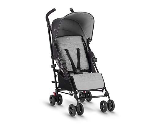 Silver Cross Zest Kinderwagen, kompakt und leicht, voll liegend, für Babys und Kleinkinder, silberfarben