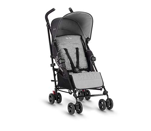 Silver Cross Zest Stroller, Compact and Lightweight Fully Reclining Baby To Toddler Pushchair – Silver