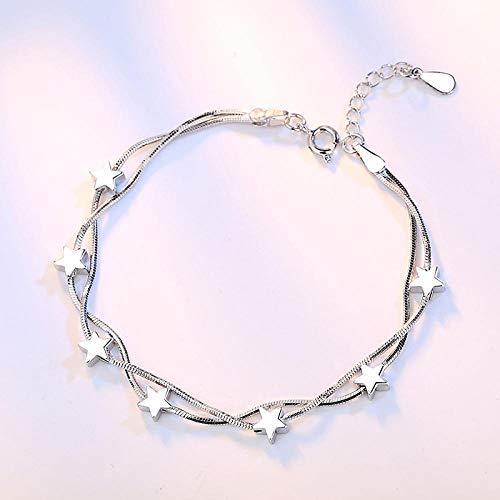 Bracelet Argent Couleur Cube Charme Bracelets pour Femmes Lien Chaîne Bracelets Partie De Mode Féminin Bracelet Bijoux Cadeau F6783
