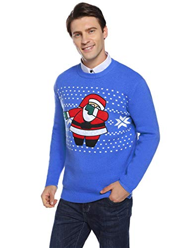Abollria Pullover Herren Weihnachtspullover Winter Pullover Strickpullover Grobstrick Weihnachtspulli Rundhals Winterpulli für Christmas