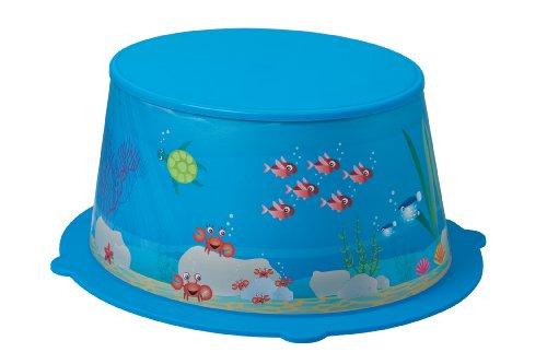 Rotho Babydesign Marchepied Ocean StyLe!, Surface de Marche Antidérapante, StyLe!, Bleu, 20216012576