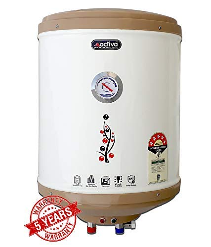 ACTIVA 15 Ltr Storage 2 KVA 5 Star GLASSLINE Tank Geyser with Temperature Meter, ABS TOP Bottom, HD ISI Element...