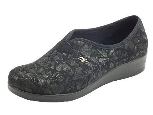 Fly Flot N3N59 JD - Zapatillas de estar por casa para mujer, tela negra Negro Size: 36 EU