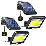 Luz Solar Exterior, 2 Paquetes Focos LED Exterior Solares con...