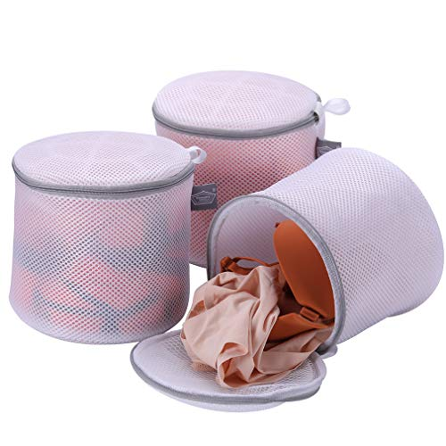 Kimmama Pack of 3 Delicate Bra Washing Bag - High Permeability Sandwich Fabric Lingerie Laundry Bag- Underwear Bag for Bras,Socks,Panty,Undershirt