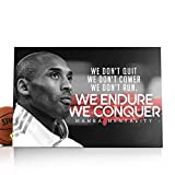 Kobe Bryant Canvas Kobe Bryant Decor Kobe Bryant Frame Kobe Bryant Framed Kobe Bryant Lakers Kobe Bryant Mamba Focus Kobe Bryant Mamba Mentality Kobe Bryant NBA (ArtWork-03, 14x10)