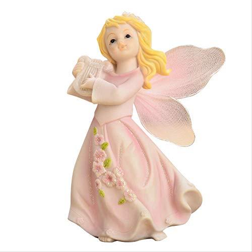 ZWWZ Home Decoration Kinderzimmer eingerichtet Fensteranzeige Kleiner Schmuck wenig Engel Puppe Ornamente MISU