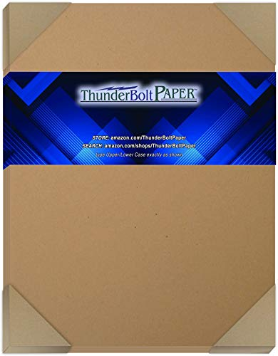 "25 Brown Kraft Fiber 80# Cover Paper Sheets - 8.5"" X 11"" (8.5X11 Inches) Standard Letter