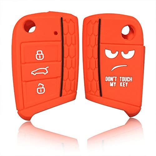 Cubierta de la llave del coche, carcasa de la llave del coche, funda protectora para VW Polo Golf 7 MK7 para Skoda Octavia Combi A7, rojo