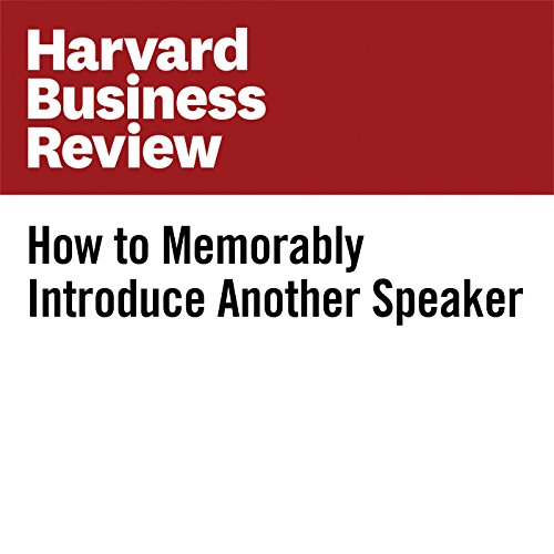 How to Memorably Introduce Another Speaker copertina
