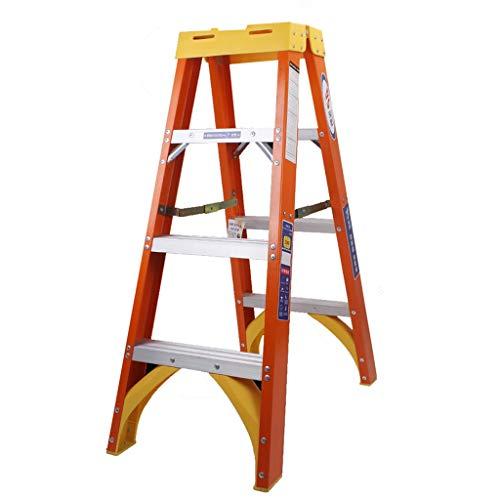 Escalera plegable Escalera de tijera de fibra de vidrio, 3 escalones, escalera...