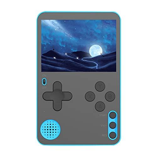 SNOWINSPRING Consola de Juegos PortáTil Consola de Juegos de Tarjetas Ultrafina Consola de Videojuegos Retro PortáTil Buenos Regalos para Ni?Os y Adultos-Azul