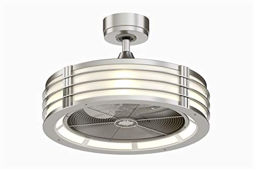Fanimation Beckwith FP7964BN Ceiling Fan with Frosted Shade Light Kit and Remote,13 inch, Brushed Nickel