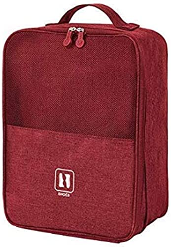 SoloTravel Travel Shoe Bag Footwear Organizer Pouch Holds 3 Pair of Shoes and Socks Marron Color