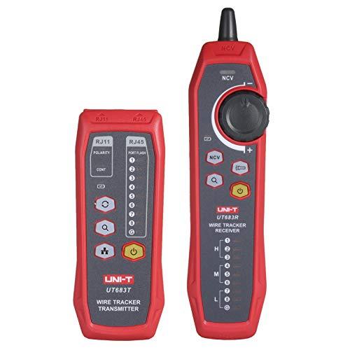 KKmoon Buscador de líneas de red Rastreador de cables Rastreador de señales Rastreador de cables Localizador de cables Verificador multifuncional Buscador de líneas de red telefónica