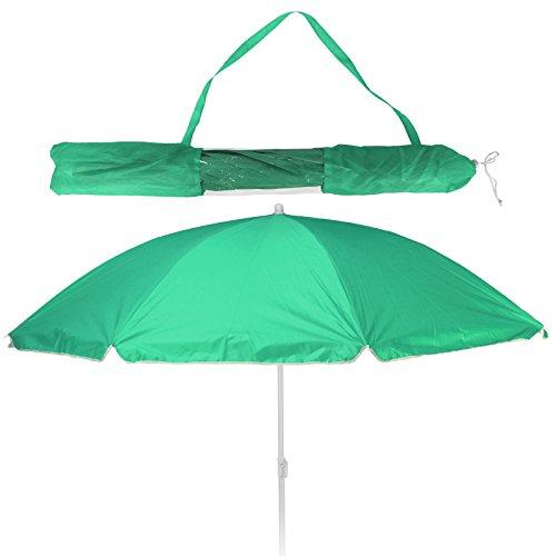 Koopman Balkonschirm - Strandschirm - Sonnenschirm - LSF 30+ - 156cm mit Farbauswahl (grün)