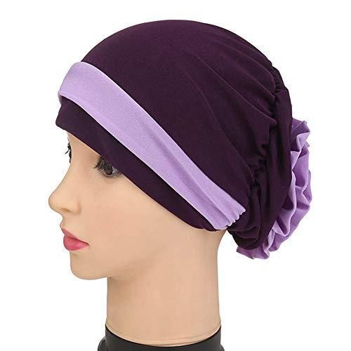 Vrouwen Stretch Flower mulimische hoofddoek chemo turban hoofdband sjaal beanie cap hoed voor kankerpatiënten