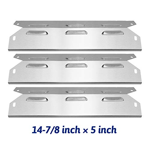 Utheer Heat Plates Kenmore Grill Parts Replacement 14-7/8 Inch for Kenmore 146.23678310, 146.23679310, 640-05057371-6, 640-05057373-6, Stainless Steel Shield Tent Flavor Bars Gas Grill Models, 3 Pack