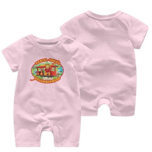 Daniel Tiger's Neighborhood Comfortable and Cute Baby Onesie with Short Sleeves Pink