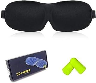 Sleeping Mask-Eye Mask for Woman-Man,Innovative Light Blocking Design Blindfold (Black)