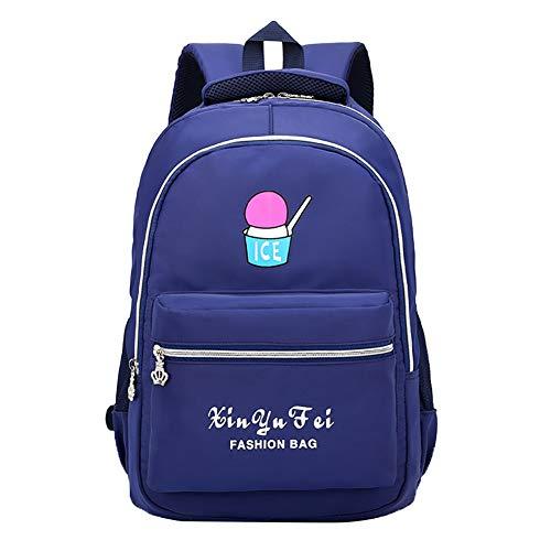 Qinlee Borsa per studio esterno per computer, per la scuola elementare, per ragazze, per viaggi, grande idea regalo di compleanno (blu)