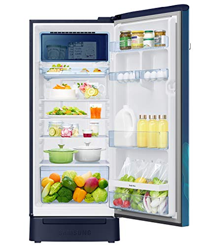 Samsung 225 L 4 Star Inverter Direct Cool Single Door Refrigerator(RR23A2F3X9U/HL, Paradise Blue, Base Stand with Drawer, Digi-Touch Cool) 4