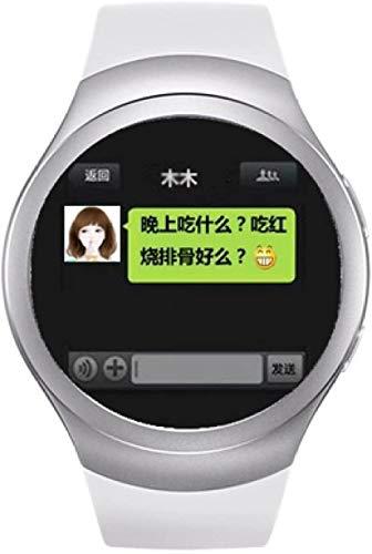 Reloj inteligente KPulsmesser Bluetooth tarjeta teléfono teléfono pantalla táctil posicionamiento impermeable Android pulsera niño estudiante adulto blanco