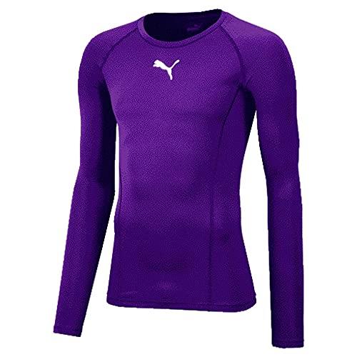 PUMA Liga Baselayer LS Camiseta Técnica, Hombre, Prism Violet, M