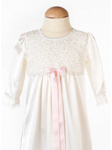 Grace of Sweden - Costume de baptême - Bébé (garçon) 0 à 24 mois Off white bow ribbon 80/86, 11-18 month, chest 20,5 in.