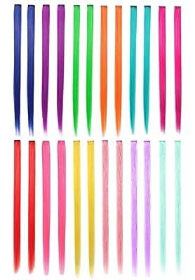 LiaSun 24Pcs/set Multi-Colors Straight