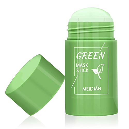 Green Tea Mask, Natural Face Moisturizes Oil Control, Soften Dead Cuticle Cells, Deeply Cleanse Pores, Improves Skin, for All Skin Types Men Women, 100% natural green tea extract (1PCS, Green Tea Mask)