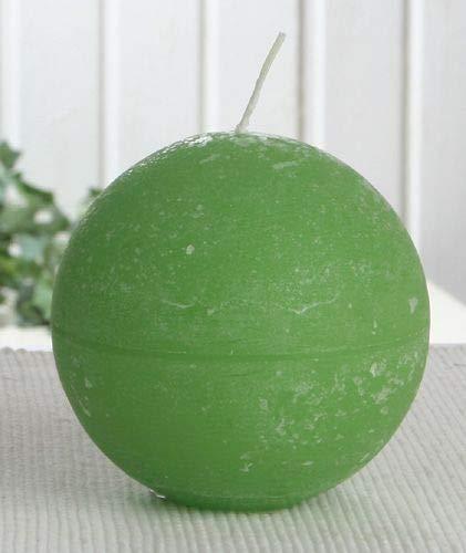 Rustik-Kugelkerze, 10 cm Ø, apfelgrün